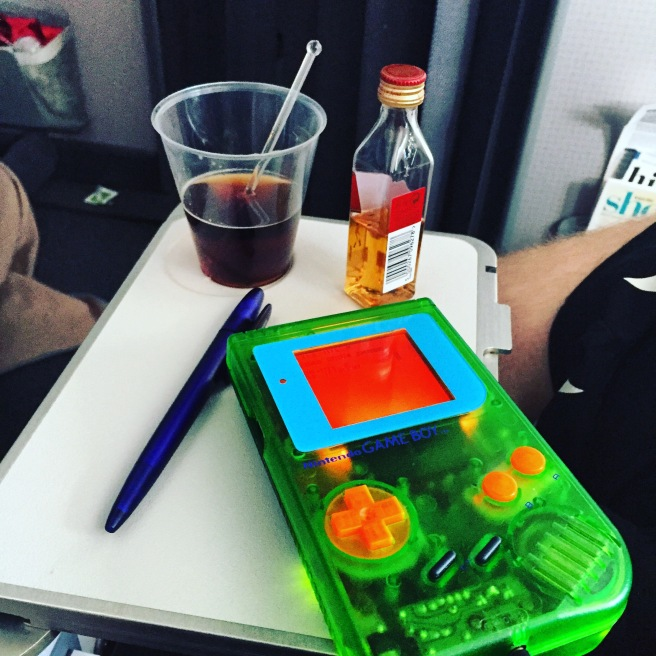 Game Boy on Plane
